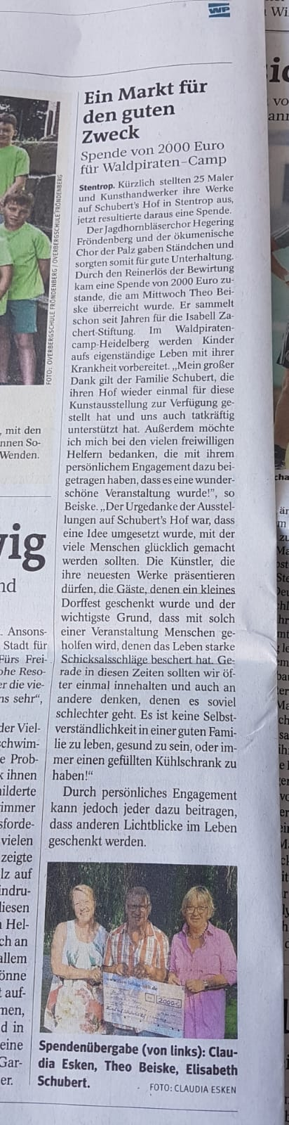 Artikel Schubert's Hof Stentrop