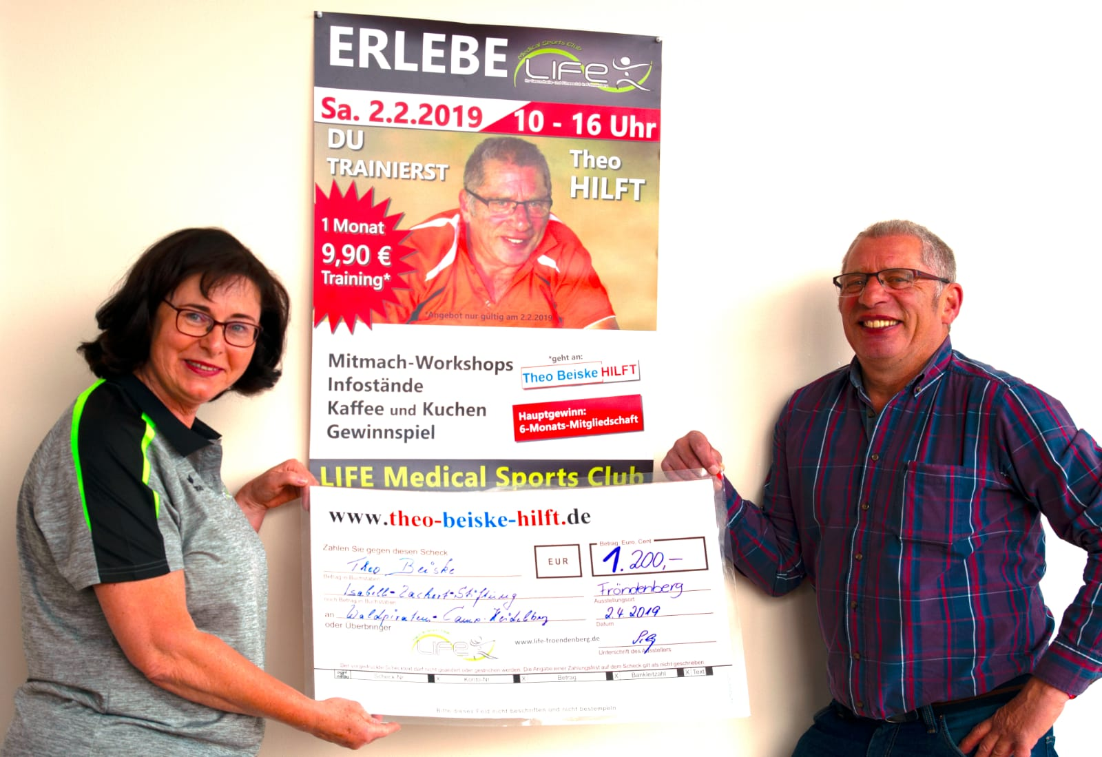 Spendenknaller Februar 2019: LIFE Medical Sports Club