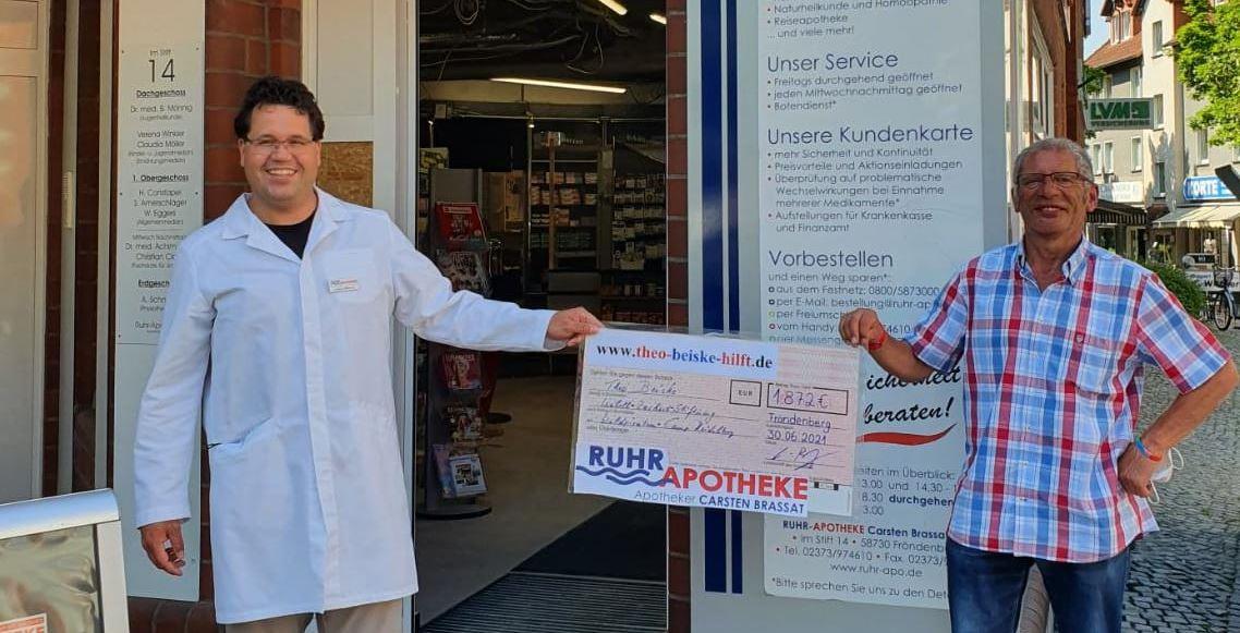 Spendenscheck Juli 2021 Ruhr Apotheke